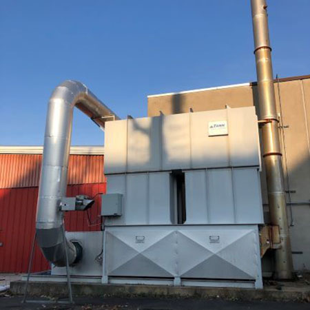 Used TANN Corp. 7,000 Regenerative Thermal Oxidizer For Sale