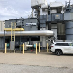Durr MEGTEC Systems Clean Switch Used Regenerative Thermal Oxidizer (RTO) with 25,000 scfm capacity and two media chambers