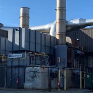 Used Durr MEGTEC Enterprise Regenerative Thermal Oxidizer (RTO) for sale, with 20,000 scfm capacity