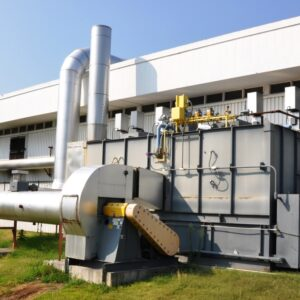 Durr MEGTEC Millennium Used Regenerative Thermal Oxidizer (RTO) with a maximum capacity of 12,000 scfm includes integrated poppet and media chamber