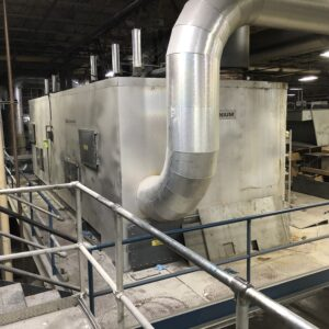 Durr MEGTEC Millennium Used Regenerative Thermal Oxidizer (RTO) with a maximum capacity of 12,000 scfm